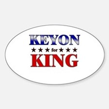 KEYON for king Oval Decal