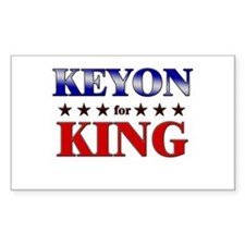 KEYON for king Rectangle Decal