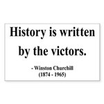 Winston Churchill 4 Rectangle Sticker