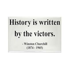 Winston Churchill 4 Rectangle Magnet