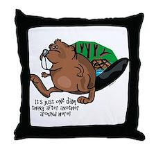 Dam Thing Throw Pillow
