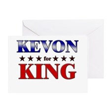 KEVON for king Greeting Card