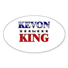 KEVON for king Oval Decal