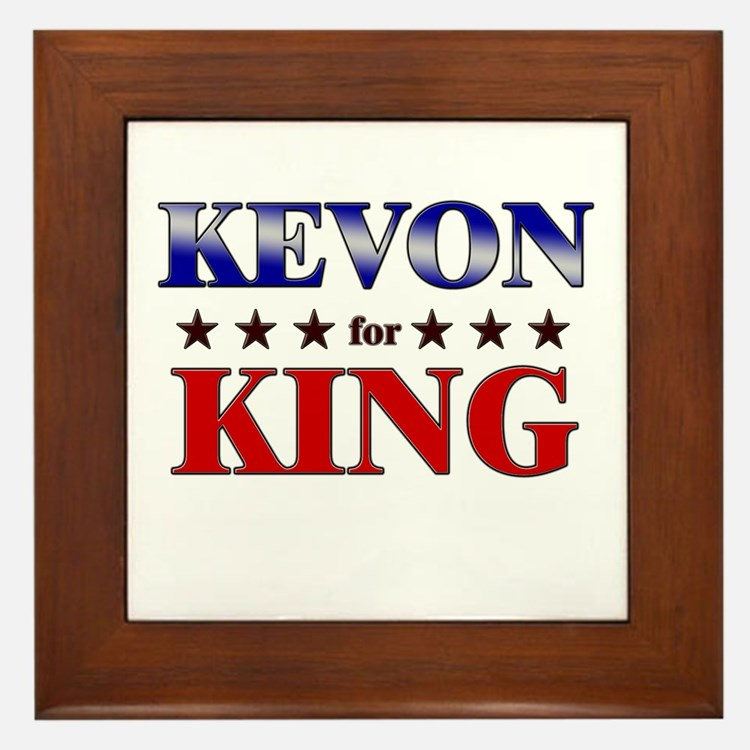 KEVON for king Framed Tile
