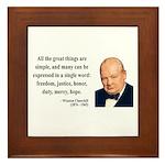 Winston Churchill 5 Framed Tile