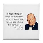 Winston Churchill 5 Tile Coaster