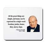 Winston Churchill 5 Mousepad