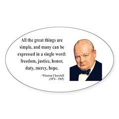 Winston Churchill 5 Oval Decal