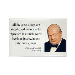 Winston Churchill 5 Rectangle Magnet