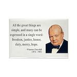 Winston Churchill 5 Rectangle Magnet (100 pack)