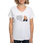 Winston Churchill 5 Women's V-Neck T-Shirt