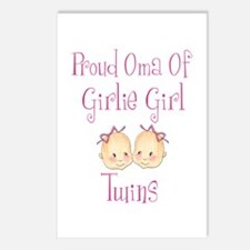 Proud Oma Girl Twins Postcards (Package of 8)