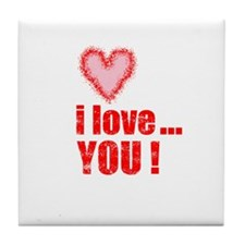 I Love... You! Tile Coaster