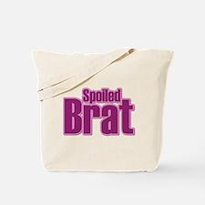 Pink Spoiled Brat Design Tote Bag