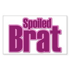 Pink Spoiled Brat Design Rectangle Decal