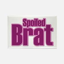 Pink Spoiled Brat Design Rectangle Magnet
