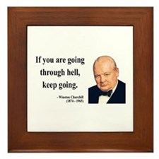 Winston Churchill 6 Framed Tile