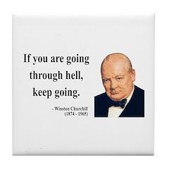 Winston Churchill 6 Tile Coaster
