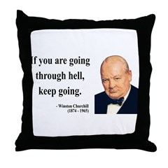 Winston Churchill 6 Throw Pillow