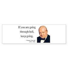 Winston Churchill 6 Bumper Car Sticker