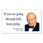 Winston Churchill 6 Rectangle Sticker