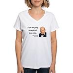 Winston Churchill 6 Women's V-Neck T-Shirt