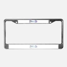 Merartsea painting blue & purple License Plate Fra