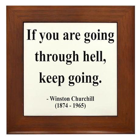 Winston Churchill 6 Framed Tile
