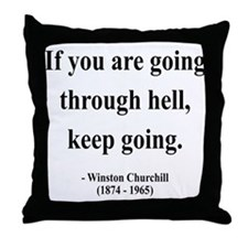 Winston Churchill 6 Throw Pillow
