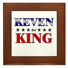 KEVEN for king Framed Tile