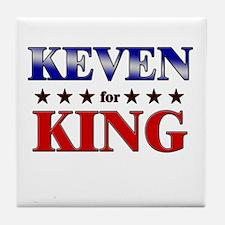 KEVEN for king Tile Coaster