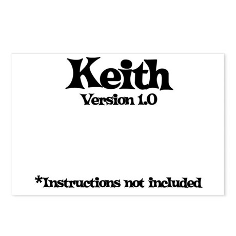 Keith - Version 1.0 Postcards (Package of 8)