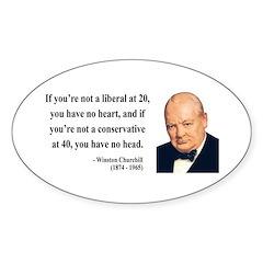 Winston Churchill 8 Oval Decal