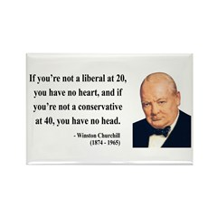 Winston Churchill 8 Rectangle Magnet (10 pack)