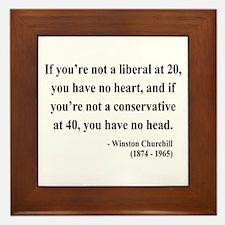 Winston Churchill 8 Framed Tile