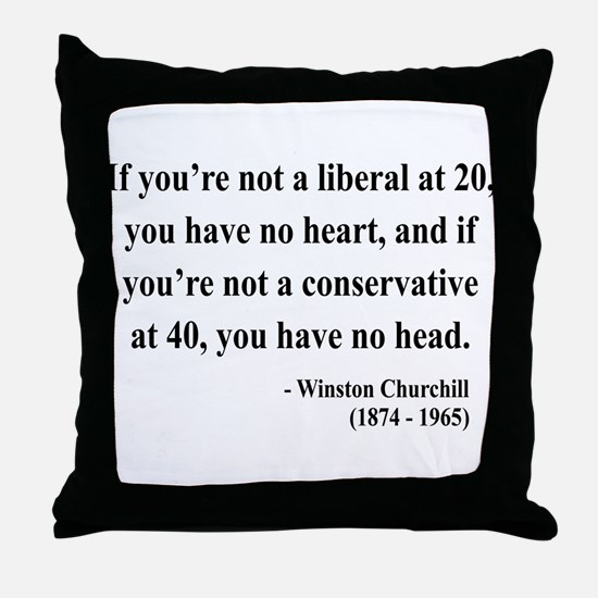 Winston Churchill 8 Throw Pillow
