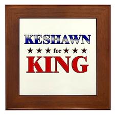 KESHAWN for king Framed Tile