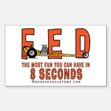 8 SECONDS Rectangle Decal