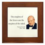 Winston Churchill 9 Framed Tile