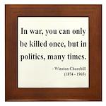 Winston Churchill 10 Framed Tile