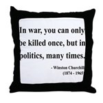 Winston Churchill 10 Throw Pillow