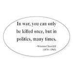 Winston Churchill 10 Oval Sticker