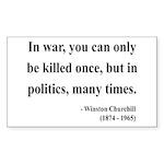 Winston Churchill 10 Rectangle Sticker