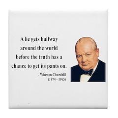 Winston Churchill 11 Tile Coaster