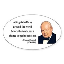 Winston Churchill 11 Oval Decal