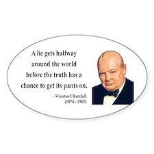 Winston Churchill 11 Oval Decal