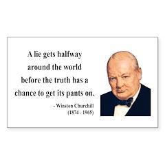 Winston Churchill 11 Rectangle Decal