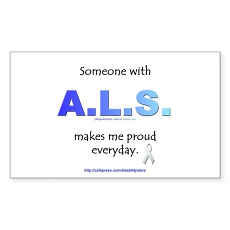 """""""ALS Pride"""" Rectangle Sticker"""