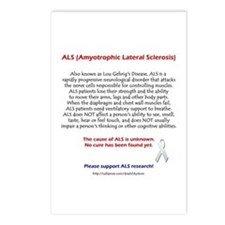 ALS Facts Postcards (Package of 8)