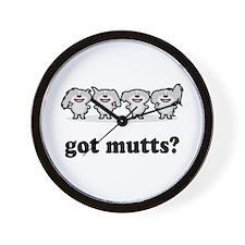 got mutts? Wall Clock